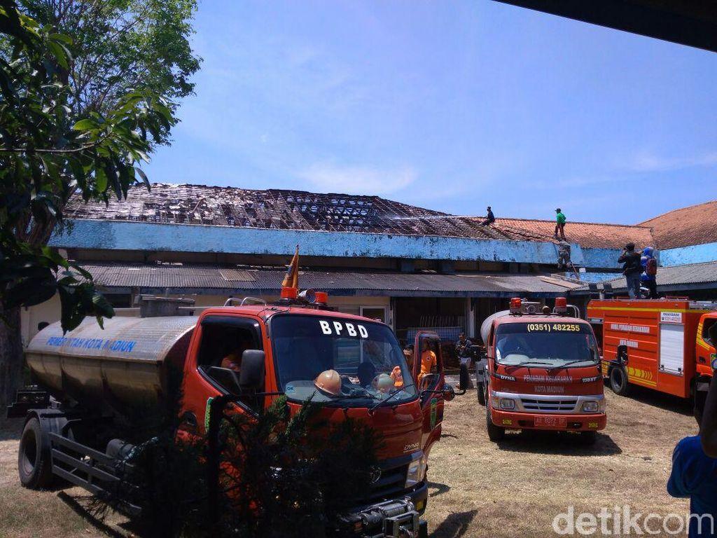 Gedung Kesenian RRI Madiun Terbakar