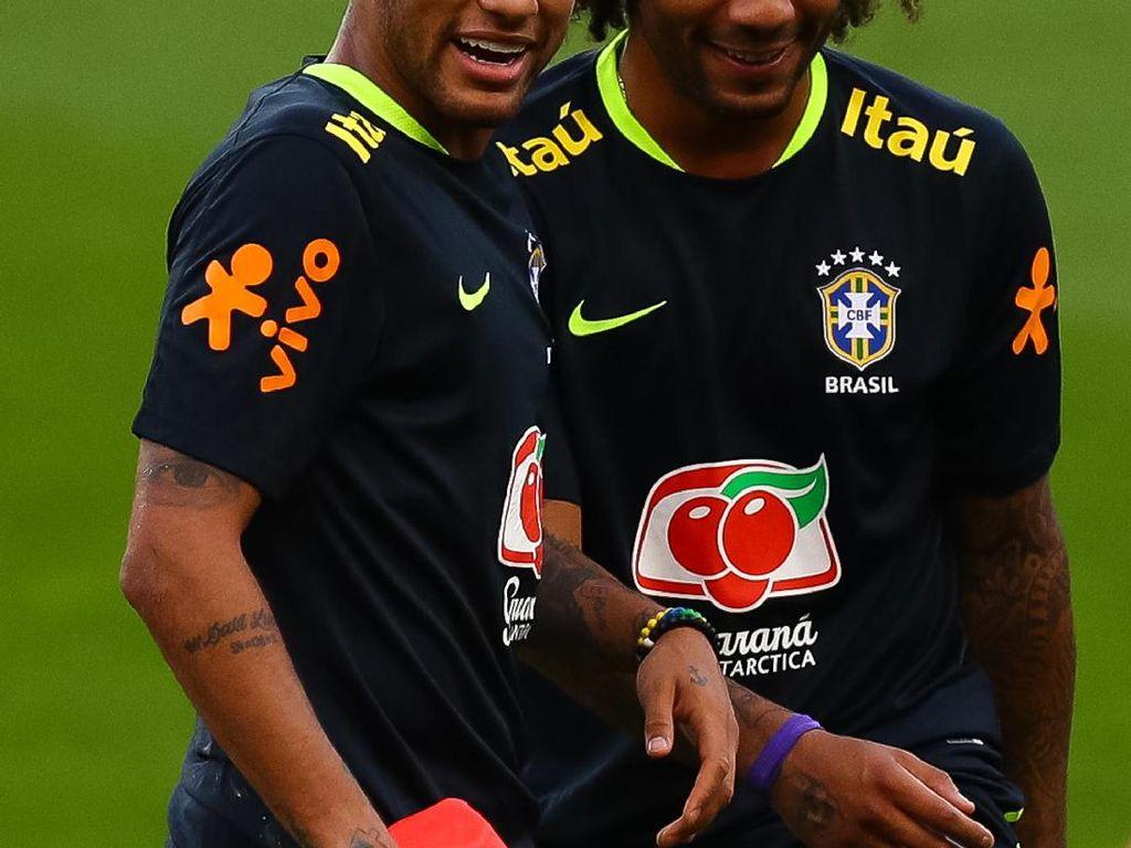 Bagi Marcelo, Neymar Lebih Baik dari Hazard