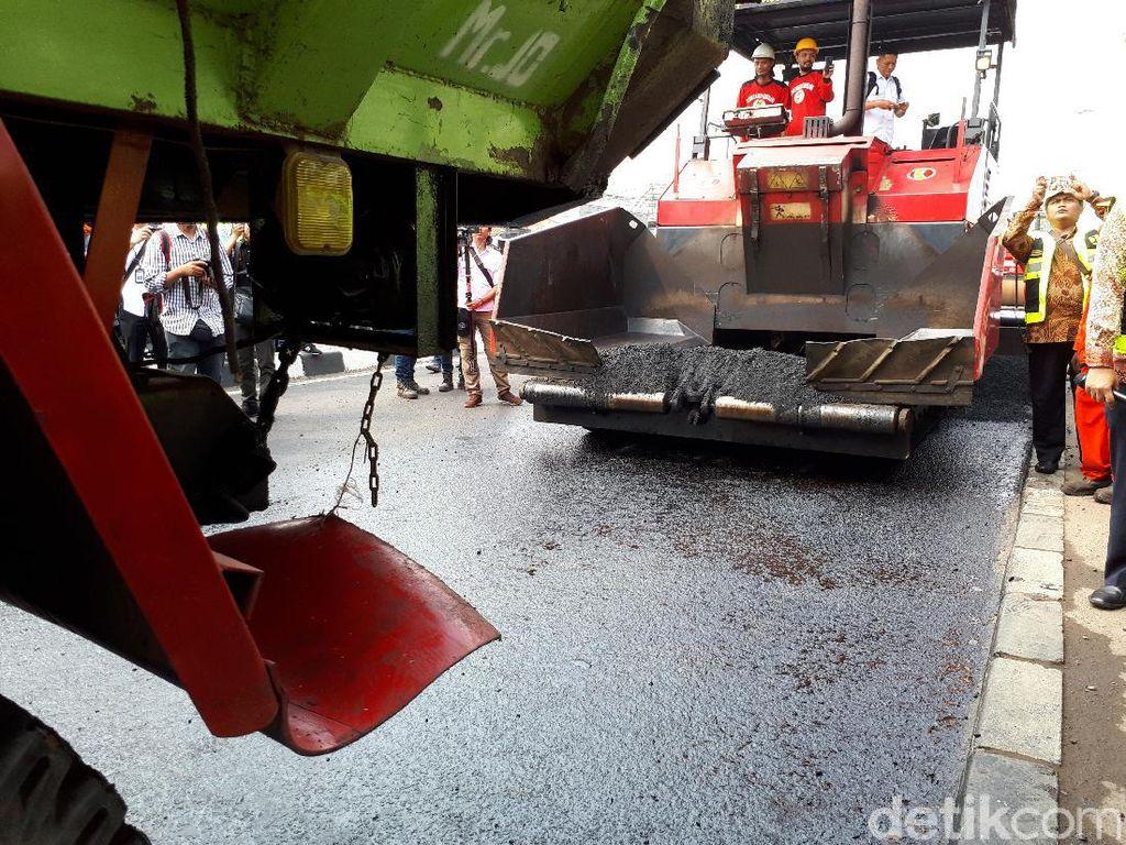 Proyek Jalan di Sumsel akan Pakai Aspal Campur Karet