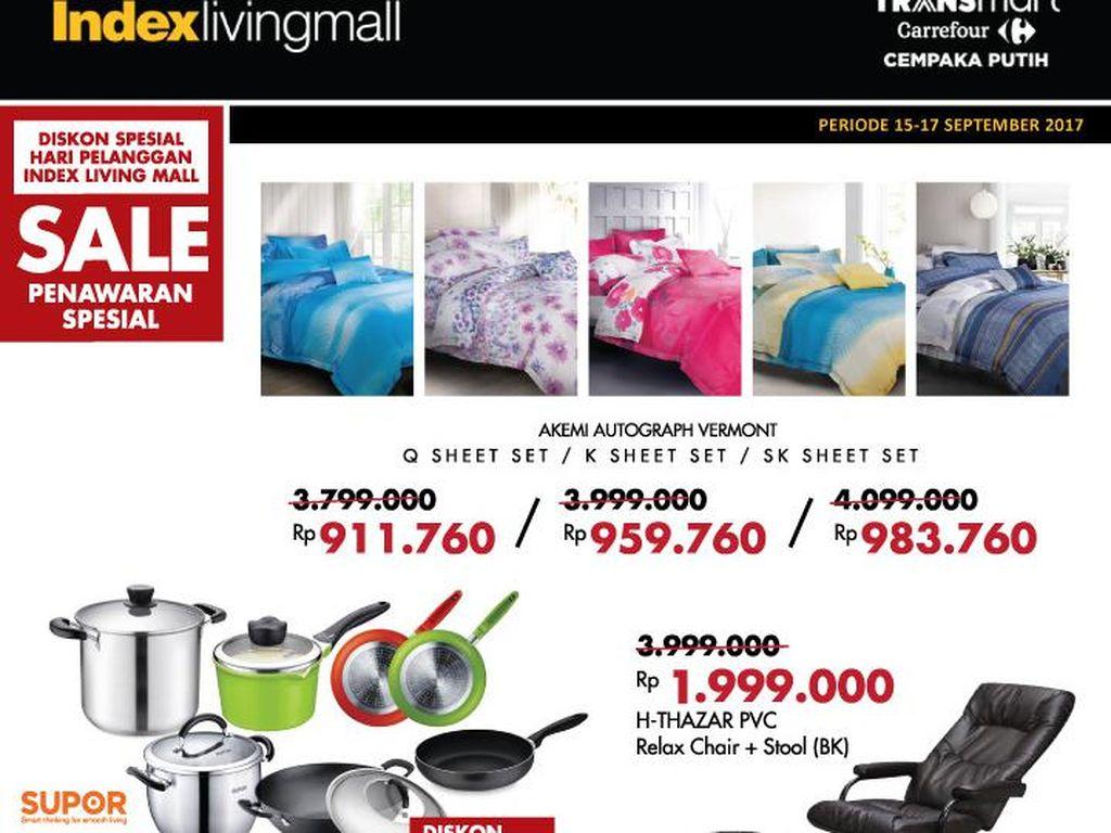 Diskon Spesial Hari Pelanggan di Index Living Mall
