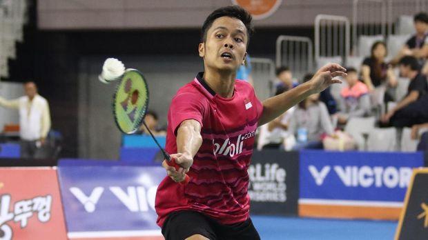 Anthony Sinisuka Ginting menjadi tunggal putra terakhir dari Indonesia yang bertahan di Jepang Terbuka 2018.
