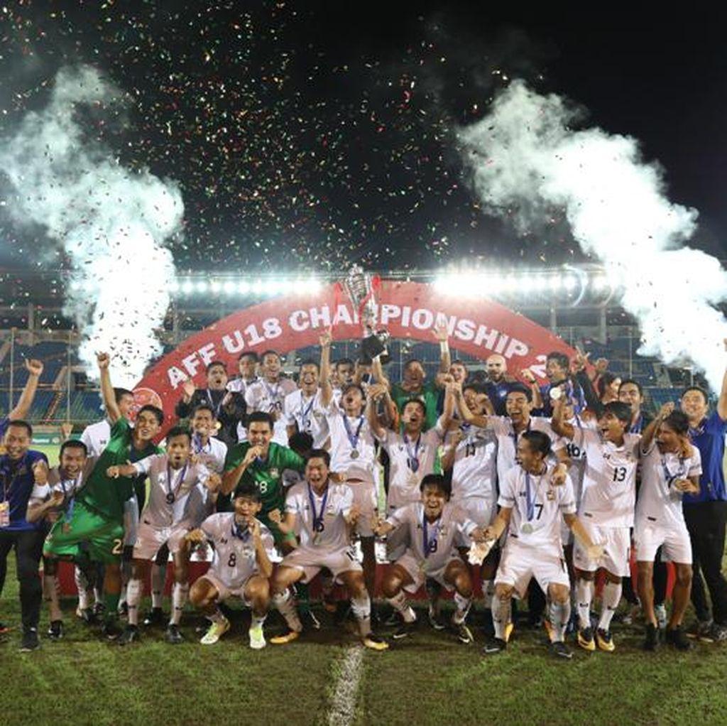 Menang 2-0 atas Malaysia, Thailand Juara Piala AFF U-18