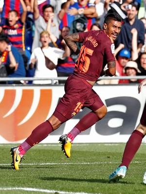 Gembiranya Paulinho Bikin Gol Kemenangan untuk Barca