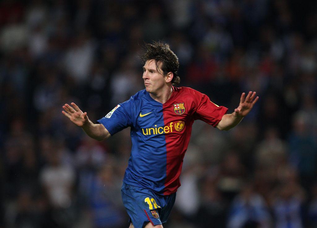 Lionel Messi di tahun 2008