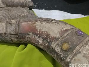 Begini Penampakan Artefak Kepala Naga dari Gunung Lalakon