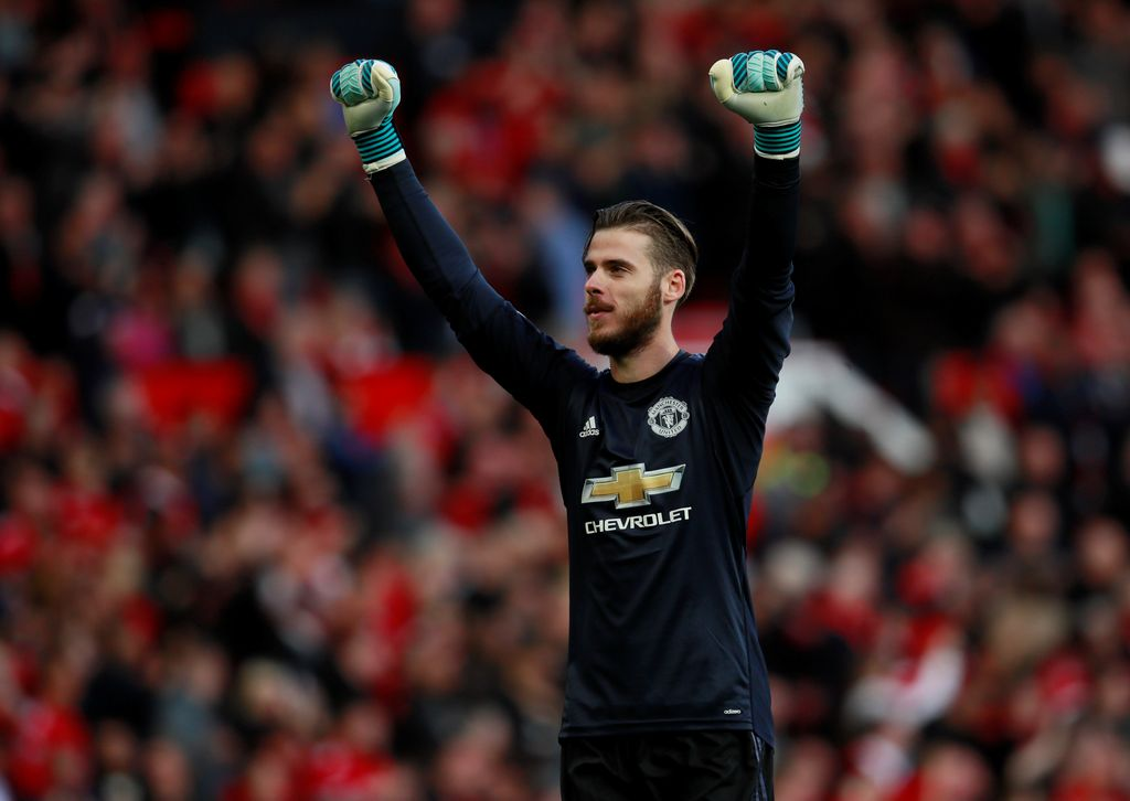 Soccer Football - Premier League - Manchester United vs Everton - Old Trafford, Manchester, Britain - September 17, 2017   Manchester United's David De Gea celebrates          Action Images via Reuters/Jason Cairnduff    EDITORIAL USE ONLY. No use with unauthorized audio, video, data, fixture lists, club/league logos or