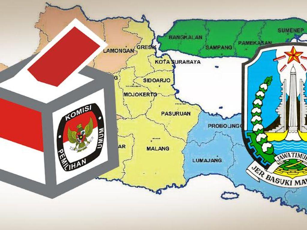 Ini 19 Calon Kepala Daerah Jawa Timur Unggul di Quick Count
