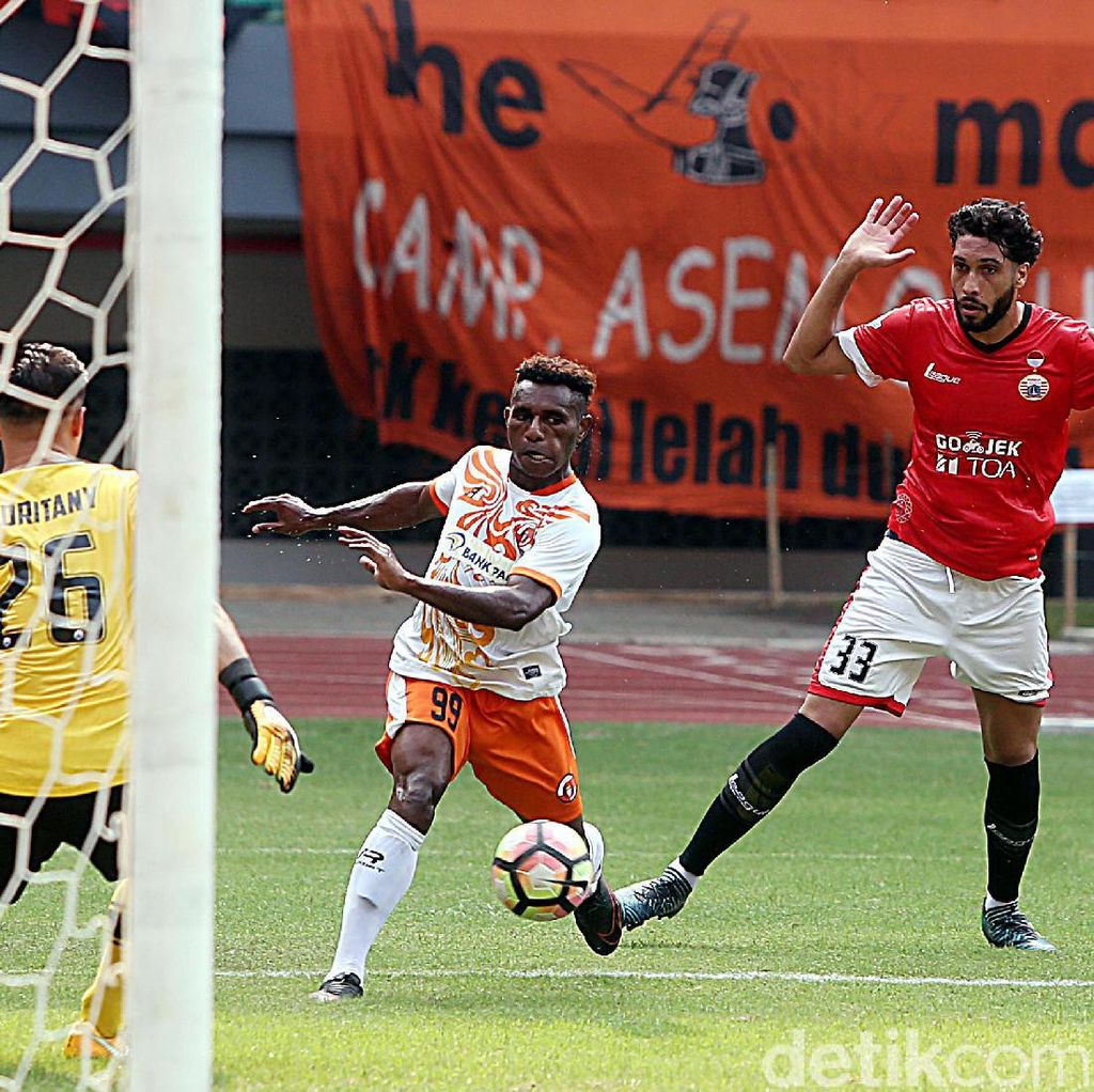 Persija Menang Tipis 1-0 Atas Perseru