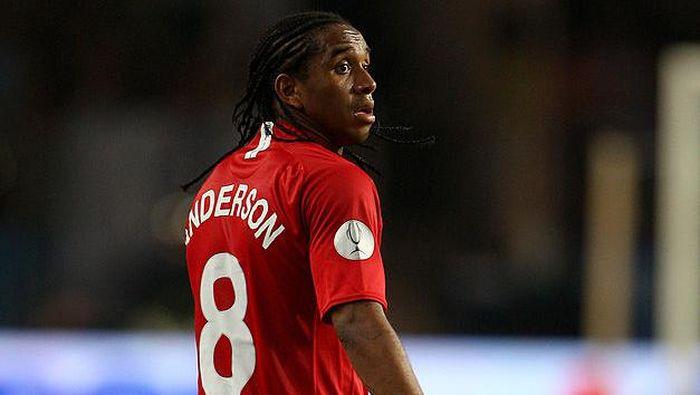 Anderson merupakan pemain Brasil paling lama yang membela MU. Selama sewindu, dia membukukan 181 pertandingan dan sembilan gol. Dia bermain di rentang 2007-2015. (Foto: Phil Cole/Getty Images)