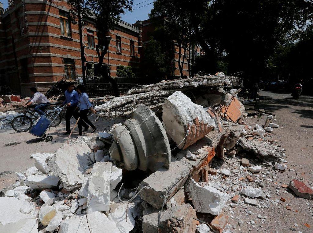 Korban Tewas Gempa Meksiko Jadi 138 Orang, 44 Gedung Rusak Parah