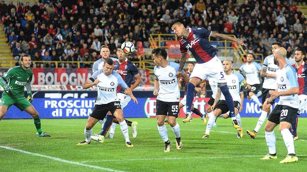 Rentetan Kemenangan Inter Terhenti di Markas Bologna
