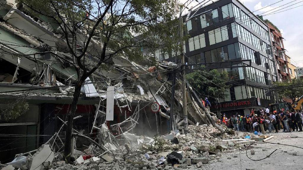 Gedung-gedung Ambruk, Begini Kerusakan Akibat Gempa di Meksiko