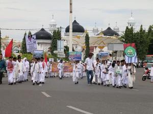Semarak 1 Muharam, Pelajar di Banda Aceh Pawai Jalan Kaki
