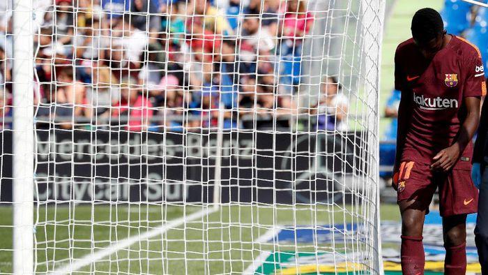 Penyerang Barcelona Ousmane Dembele cedera tiga bulan (Paul Hanna/Reuters)