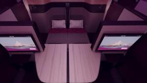 Pertama di Dunia, Maskapai Ini Sediakan Kasur di Pesawat