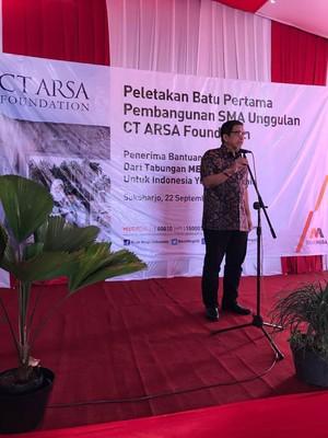 Sukses di Medan, SMA Unggulan CT ARSA Foundation Hadir di Sukoharjo