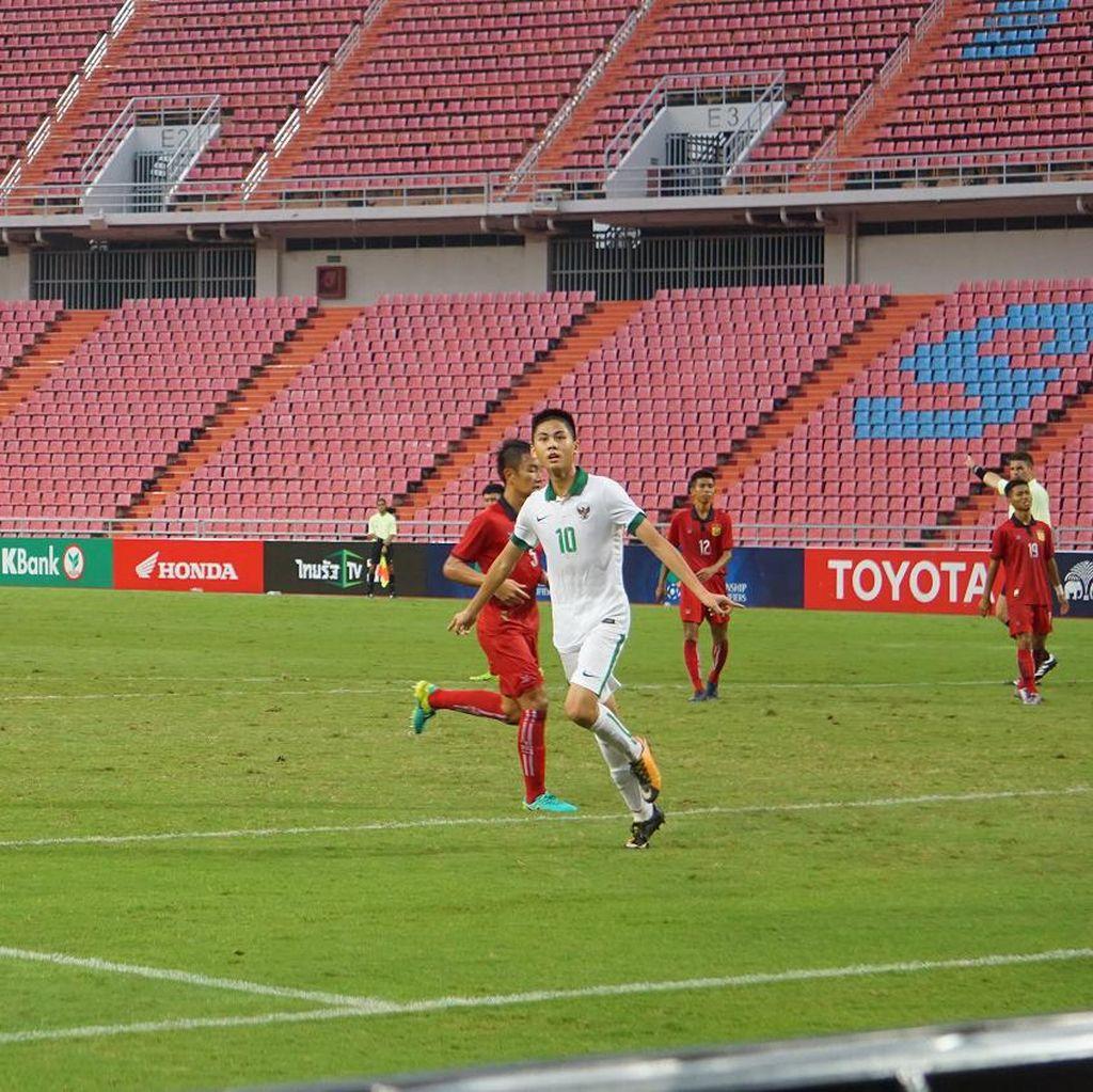 Kegembiraan Rendy Usai Tutup Kemenangan Timnas U-16 atas Laos