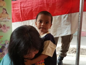 Foto: Rupa-rupa Ekspresi Anak Saat di Posyandu