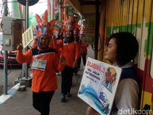 Warga Kota Mojokerto Diajak Trip Trotoar untuk Peduli Pejalan Kaki