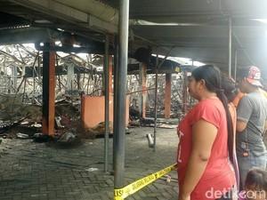 Pasar Benpas Kota Mojokerto Ludes Terbakar, Ini Penampakannya