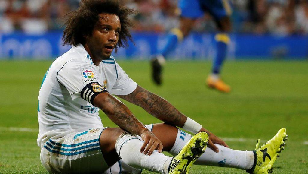Cedera Hamstring, Marcelo Terancam Absen Sebulan