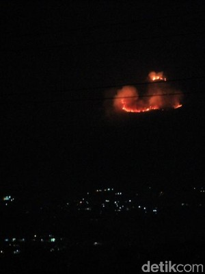 Petugas Kesulitan Tembus Lokasi Kebakaran Lahan di Gunung Salasih