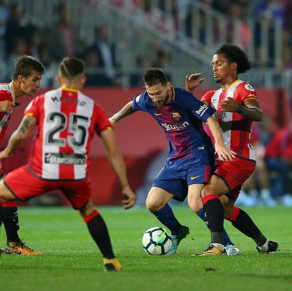 Penjagaan Ketat Girona ke Messi Jadi Jalan Keluar Barca