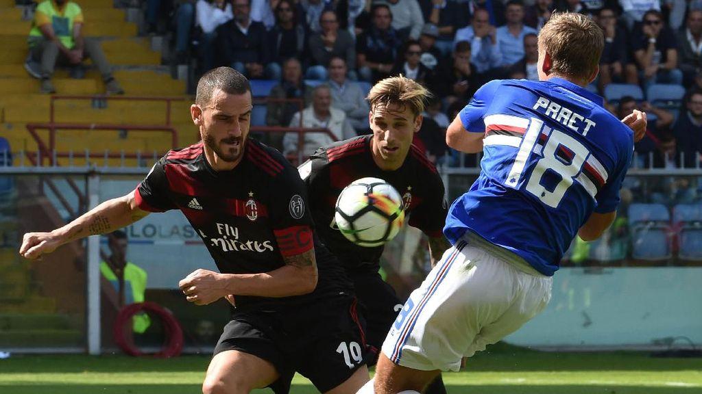 Milan Tak Berdaya di Markas Sampdoria, Kalah 0-2