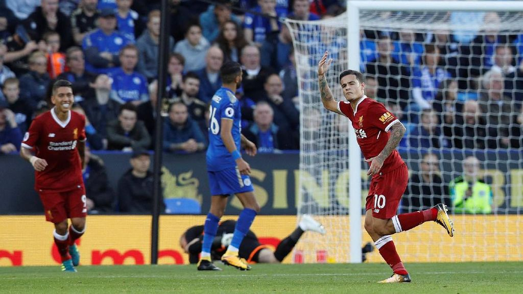Liverpool Menang 3-2 atas Leicester