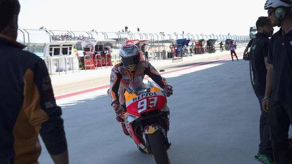 Marquez Akui Terlalu Memaksakan Diri di Kualifikasi