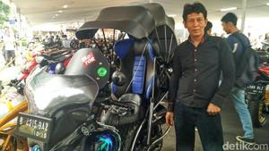 Yamaha Mio Dimodifikasi dengan Bahan Daur Ulang, Bisa Karaoke