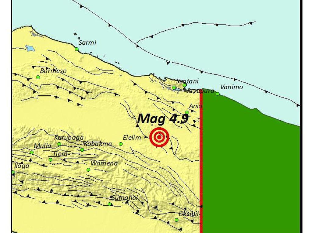Gempa 4,9 SR Guncang Keerom Papua