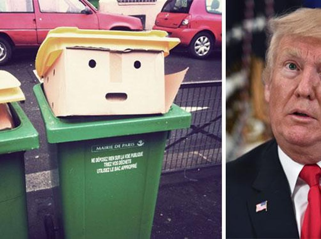 Tong Sampah Kok Mirip Donald Trump, Fenomena Apa Ini?