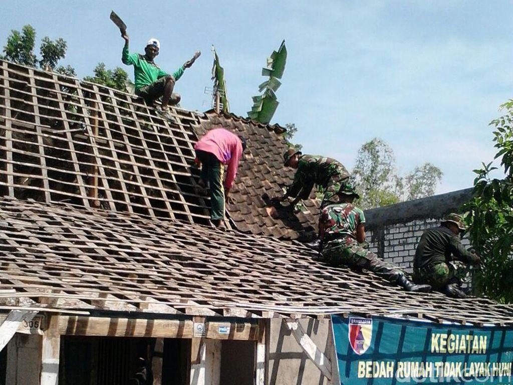 Asyik..Rumah Pejuang Veteran asal Lamongan Direnovasi