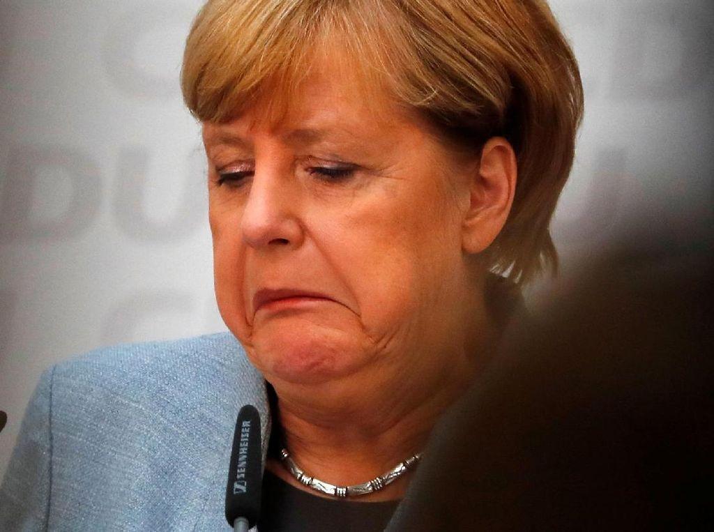 Eksporesi-ekspresi Merkel Pasca Menang Pemilu Jerman untuk ke-4 Kalinya