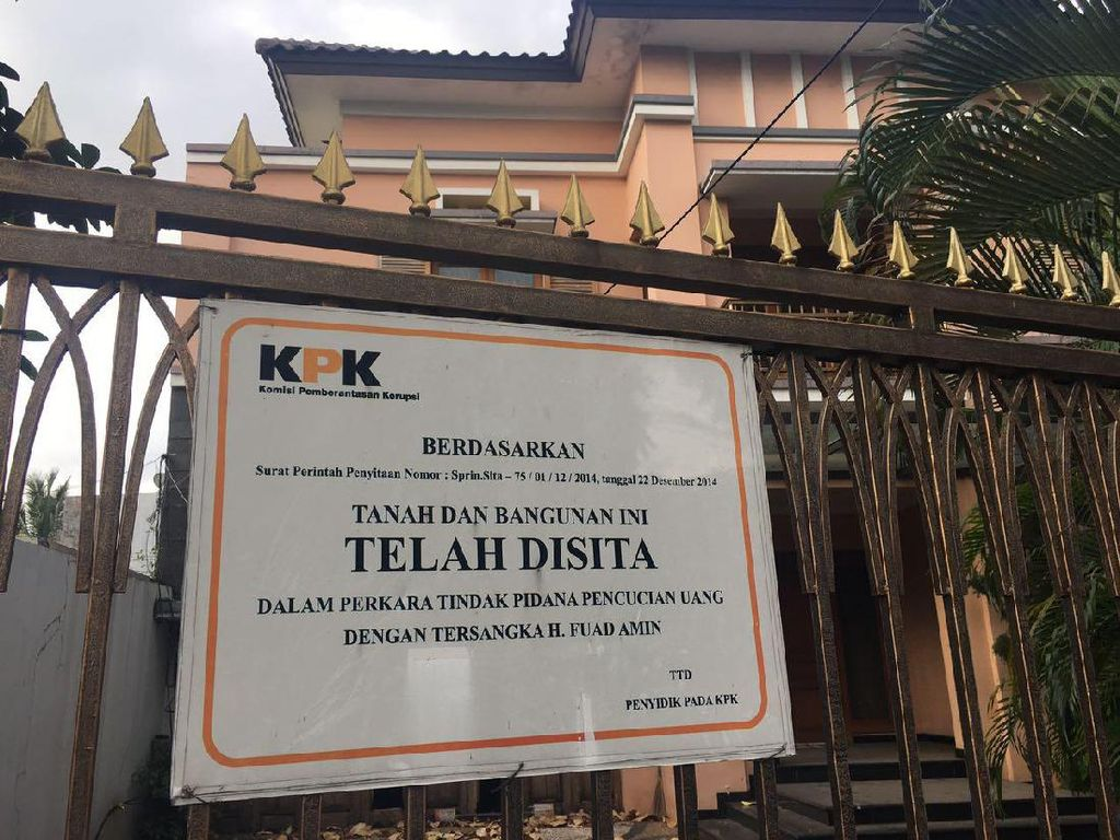 KPK Bakal Lelang 12 Aset Koruptor Fuad Amin