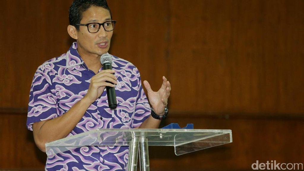 Sandiaga Uno akan Integrasikan Transportasi DKI untuk Buka Lapangan Kerja