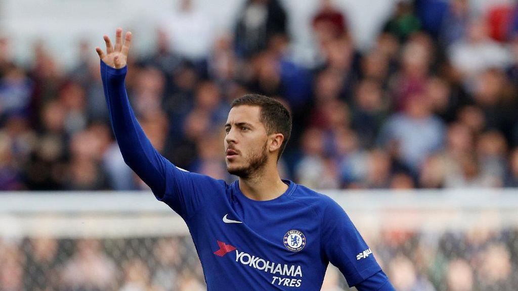 Chelsea versus Atletico, Hazard Jadi Starter?