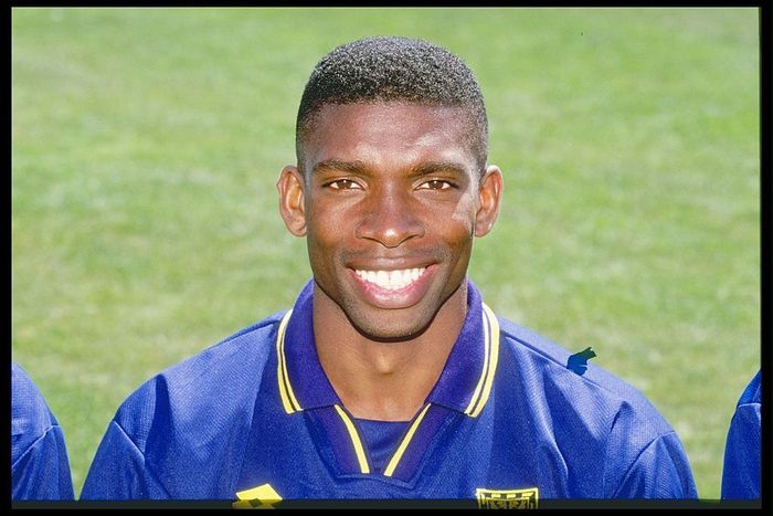 Jul 1996:  A portrait of Efan Ekoku of Wimbledon Football Club taken during the club photocall in London. Mandatory Credit: Allsport UK