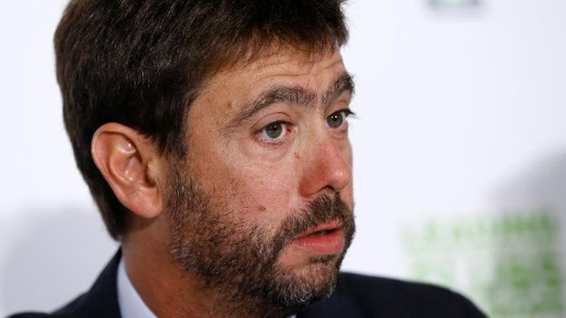 Newly appointed Chairman of European Club Association (ECA) Andrea Agnelli attends a news conference after ECA's General Assembly in Geneva, Switzerland September 5, 2017. REUTERS/Denis Balibouse