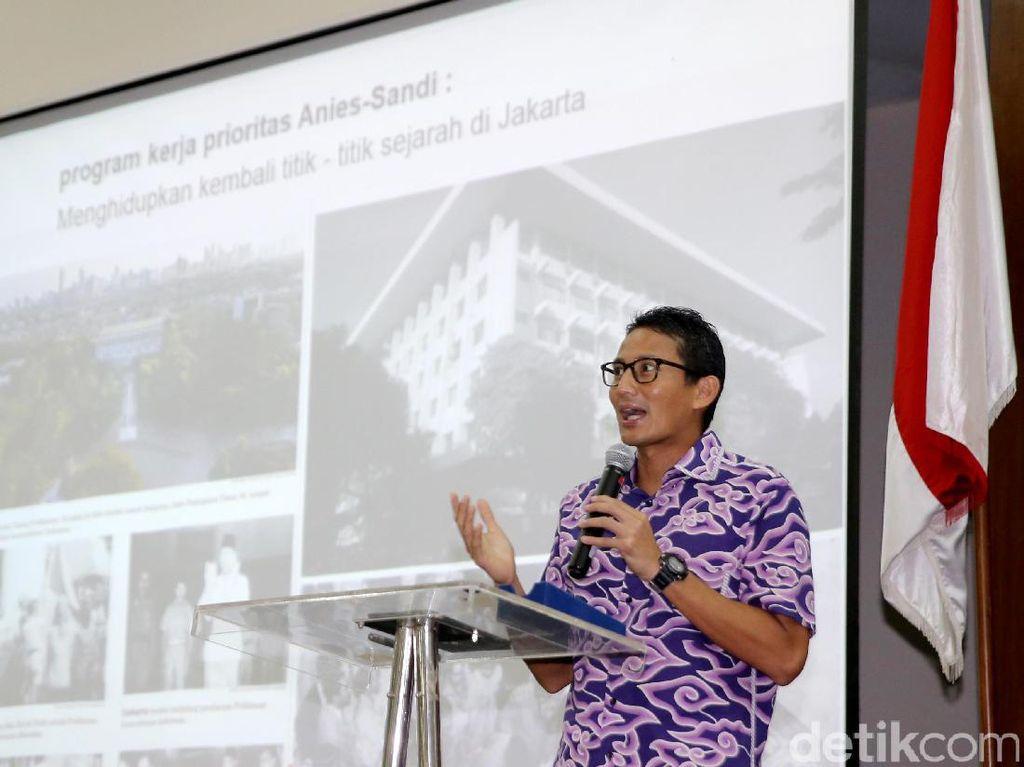 Sandiaga Minta Maaf Jakarta Marathon Terganggu Banyak Proyek