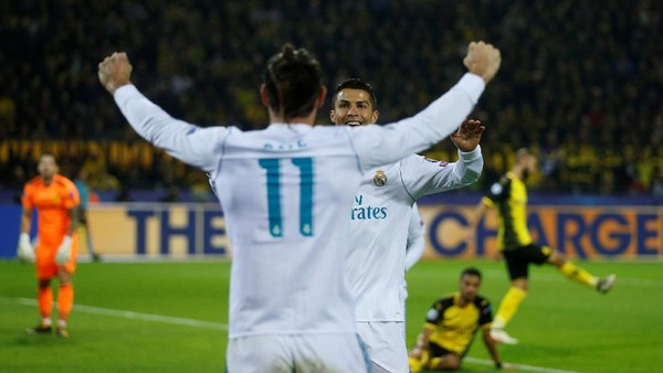 Sepasang Gol Ronaldo Bawa Madrid Taklukkan Dortmund 3-1