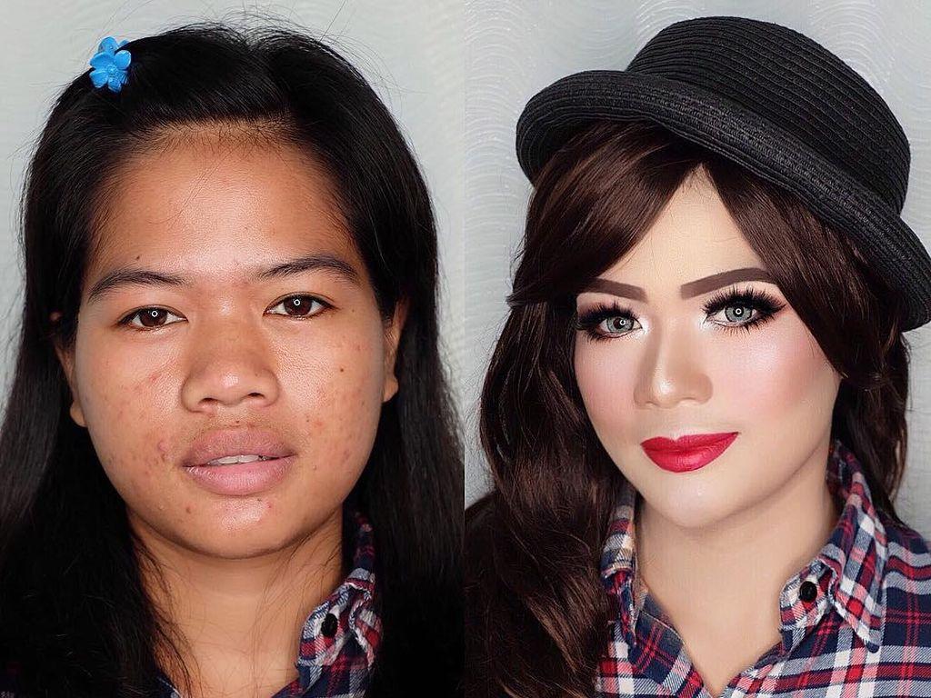 Foto: The Power of Makeup, 5 Wanita Indonesia Ini Berubah Jadi Mirip Boneka