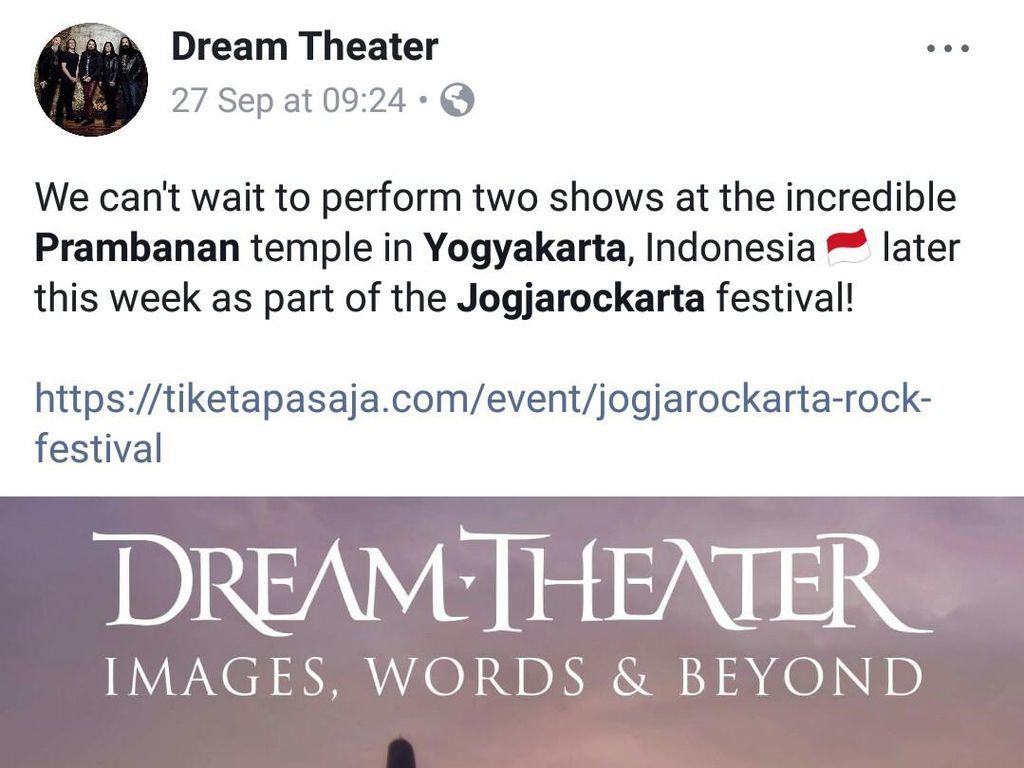 Arkeolog Indonesia Protes Keras Konser Dream Theater di Prambanan
