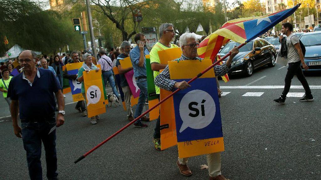 Meski TPS Ditutup, Pemimpin Catalan Tegaskan Tak Akan Menyerah