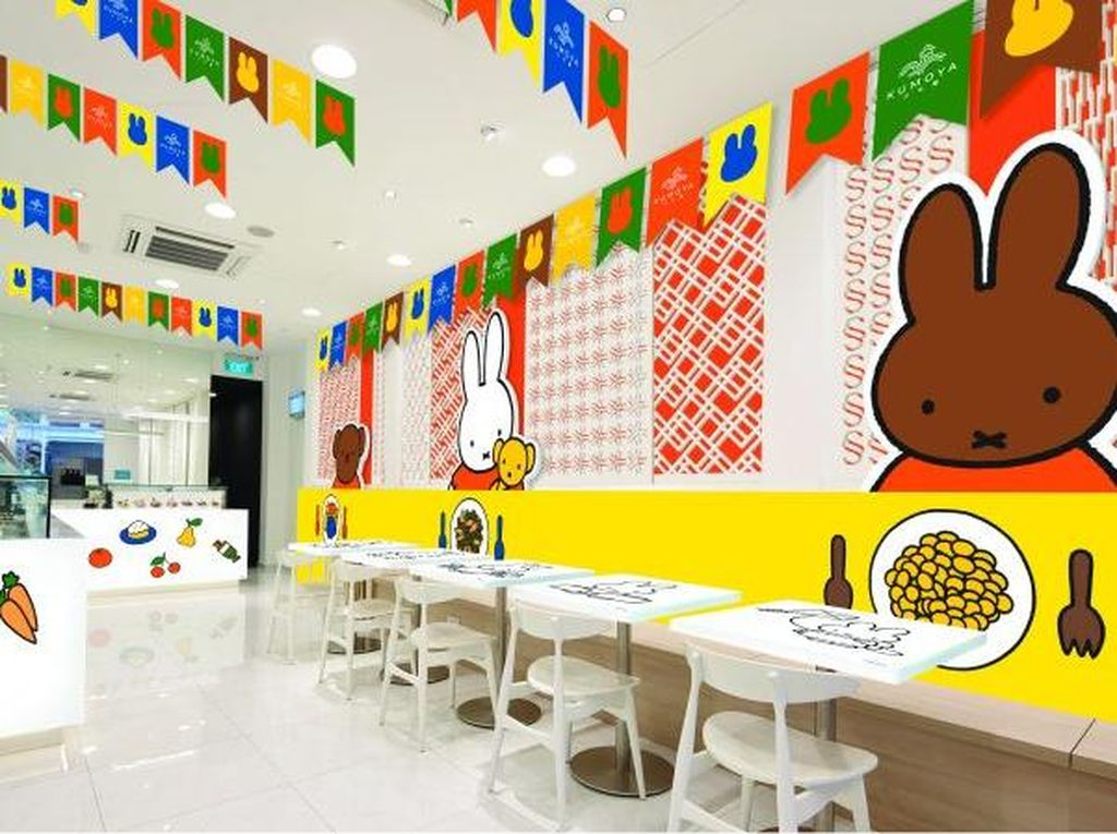 Intip Aneka Menu Bertema Kelinci Miffy yang Lucu di Kafe Ini