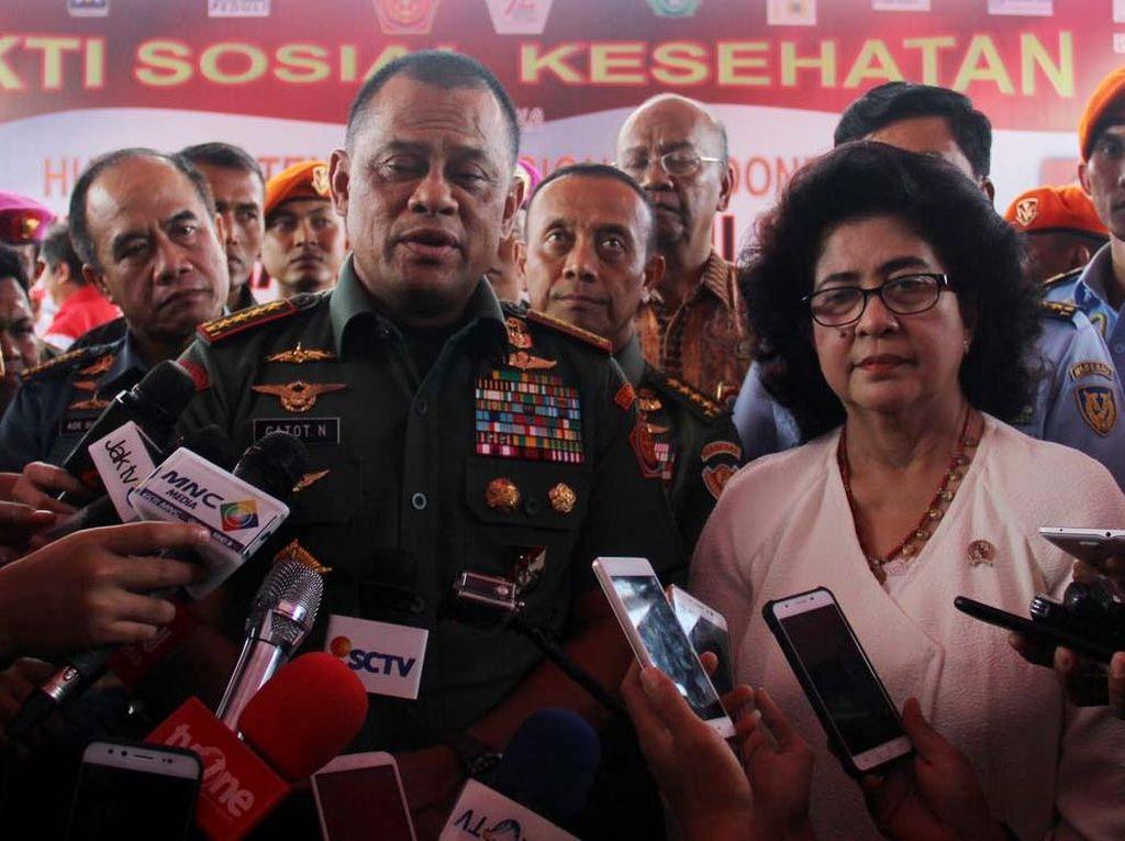 Panglima TNI Gatot Nurmantyo  Buka Baksos Kesehatan TNI