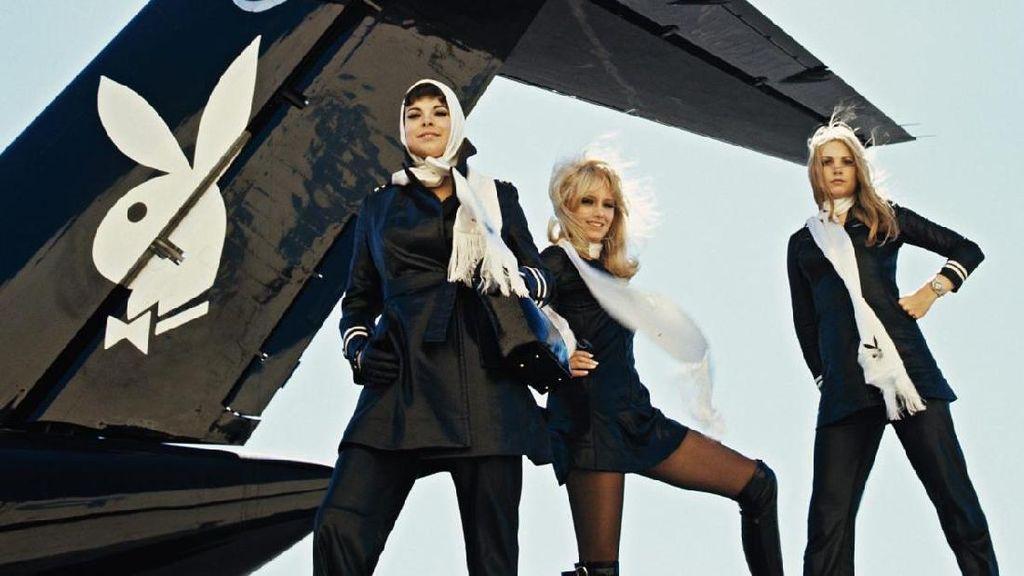 Foto: Pramugari dan Pesawat Pribadi Mendiang Bos Playboy