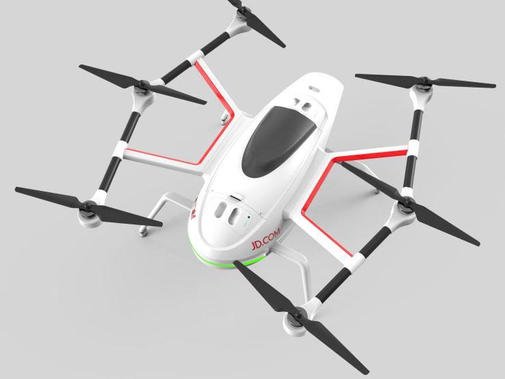 JD Ikut-ikutan Amazon Mau Kirim Barang Pakai Drone