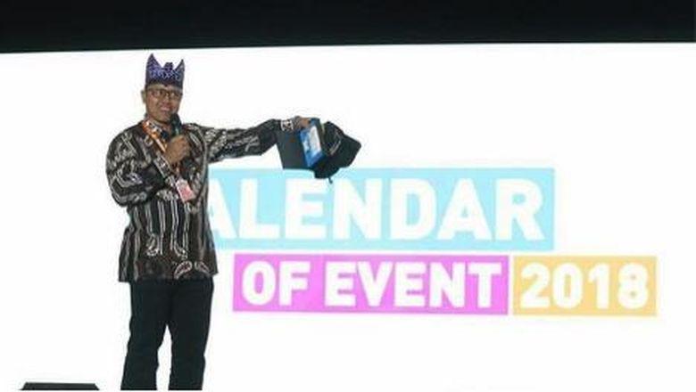 Pemaparan Calendar of Event 2018 dalam Rapat Koordinasi Nasional (Rakornas) III Pariwisata 2017 (Foto: Kemenpar)